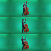 Contrabass-Jazz-Performer-j13-Green-Screen-Video-Footage Green Screen Stock