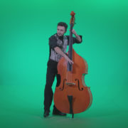 Contrabass-Jazz-Performer-j13-Green-Screen-Video-Footage_006 Green Screen Stock