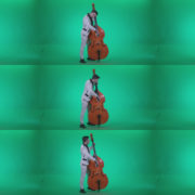 Contrabass-Jazz-Performer-j2 Green Screen Stock
