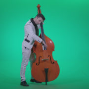 Contrabass-Jazz-Performer-j2_002 Green Screen Stock