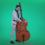 Contrabass-Jazz-Performer-j2_004 Green Screen Stock