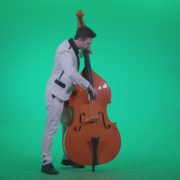 Contrabass-Jazz-Performer-j2_005 Green Screen Stock