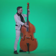 Contrabass-Jazz-Performer-j3_001 Green Screen Stock