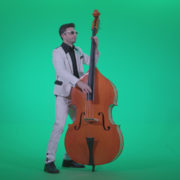 Contrabass-Jazz-Performer-j3_002 Green Screen Stock