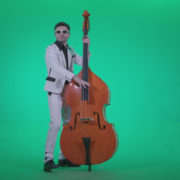 Contrabass-Jazz-Performer-j3_004 Green Screen Stock
