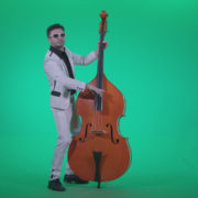 Contrabass-Jazz-Performer-j3_005 Green Screen Stock