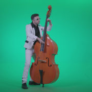 Contrabass-Jazz-Performer-j3_007 Green Screen Stock