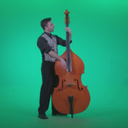 Contrabass-Jazz-Performer-j4_001 Green Screen Stock
