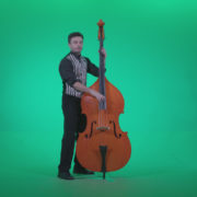Contrabass-Jazz-Performer-j5-Green-Screen-Video-Footage_002 Green Screen Stock