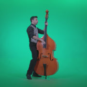 Contrabass-Jazz-Performer-j5-Green-Screen-Video-Footage_004 Green Screen Stock