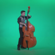 Contrabass-Jazz-Performer-j5-Green-Screen-Video-Footage_009 Green Screen Stock
