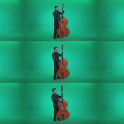 Contrabass-Jazz-Performer-j6-Green-Screen-Video-Footage Green Screen Stock