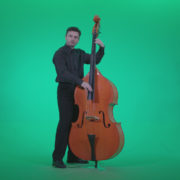 Contrabass-Jazz-Performer-j6-Green-Screen-Video-Footage_001 Green Screen Stock