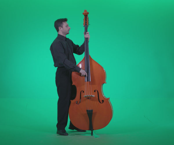 vj video background Contrabass-Jazz-Performer-j6-Green-Screen-Video-Footage_003
