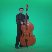 Contrabass-Jazz-Performer-j6-Green-Screen-Video-Footage_004 Green Screen Stock