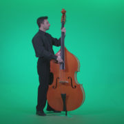 Contrabass-Jazz-Performer-j6-Green-Screen-Video-Footage_005 Green Screen Stock