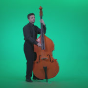 Contrabass-Jazz-Performer-j6-Green-Screen-Video-Footage_007 Green Screen Stock