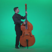 Contrabass-Jazz-Performer-j6-Green-Screen-Video-Footage_008 Green Screen Stock