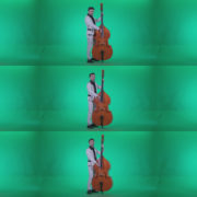 Contrabass-Jazz-Performer-j7-Green-Screen-Video-Footage Green Screen Stock