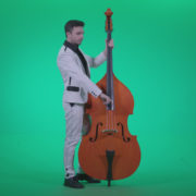 Contrabass-Jazz-Performer-j7-Green-Screen-Video-Footage_001 Green Screen Stock
