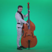 Contrabass-Jazz-Performer-j7-Green-Screen-Video-Footage_002 Green Screen Stock