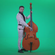 Contrabass-Jazz-Performer-j7-Green-Screen-Video-Footage_004 Green Screen Stock