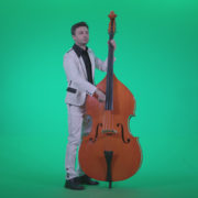 Contrabass-Jazz-Performer-j7-Green-Screen-Video-Footage_005 Green Screen Stock
