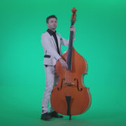 Contrabass-Jazz-Performer-j7-Green-Screen-Video-Footage_007 Green Screen Stock