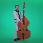 Contrabass-Jazz-Performer-j7-Green-Screen-Video-Footage_008 Green Screen Stock