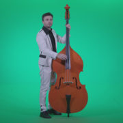 Contrabass-Jazz-Performer-j7-Green-Screen-Video-Footage_009 Green Screen Stock
