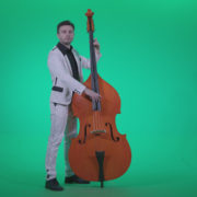 Contrabass-Jazz-Performer-j8-Green-Screen-Video-Footage_001 Green Screen Stock