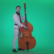 Contrabass-Jazz-Performer-j8-Green-Screen-Video-Footage_002 Green Screen Stock