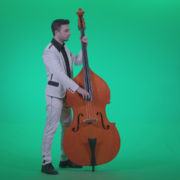 Contrabass-Jazz-Performer-j8-Green-Screen-Video-Footage_004 Green Screen Stock