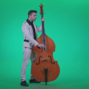 Contrabass-Jazz-Performer-j8-Green-Screen-Video-Footage_005 Green Screen Stock