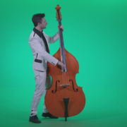 Contrabass-Jazz-Performer-j8-Green-Screen-Video-Footage_006 Green Screen Stock