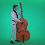 Contrabass-Jazz-Performer-j8-Green-Screen-Video-Footage_007 Green Screen Stock