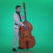 Contrabass-Jazz-Performer-j8-Green-Screen-Video-Footage_008 Green Screen Stock