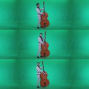 Contrabass-Jazz-Performer-j9-Green-Screen-Video-Footage Green Screen Stock