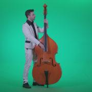 Contrabass-Jazz-Performer-j9-Green-Screen-Video-Footage_001 Green Screen Stock