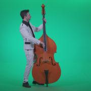 Contrabass-Jazz-Performer-j9-Green-Screen-Video-Footage_002 Green Screen Stock