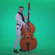 Contrabass-Jazz-Performer-j9-Green-Screen-Video-Footage_005 Green Screen Stock