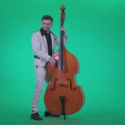 Contrabass-Jazz-Performer-j9-Green-Screen-Video-Footage_006 Green Screen Stock