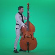 Contrabass-Jazz-Performer-j9-Green-Screen-Video-Footage_007 Green Screen Stock