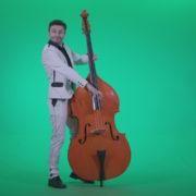 Contrabass-Jazz-Performer-j9-Green-Screen-Video-Footage_008 Green Screen Stock