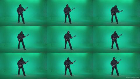 Death-Metal-Guitarist-zt1 Green Screen Stock