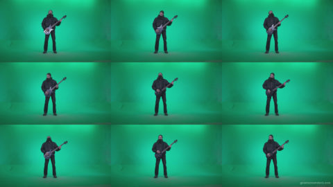 Death-Metal-Guitarist-zt2 Green Screen Stock