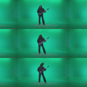 Death-Metal-Guitarist-zt3 Green Screen Stock