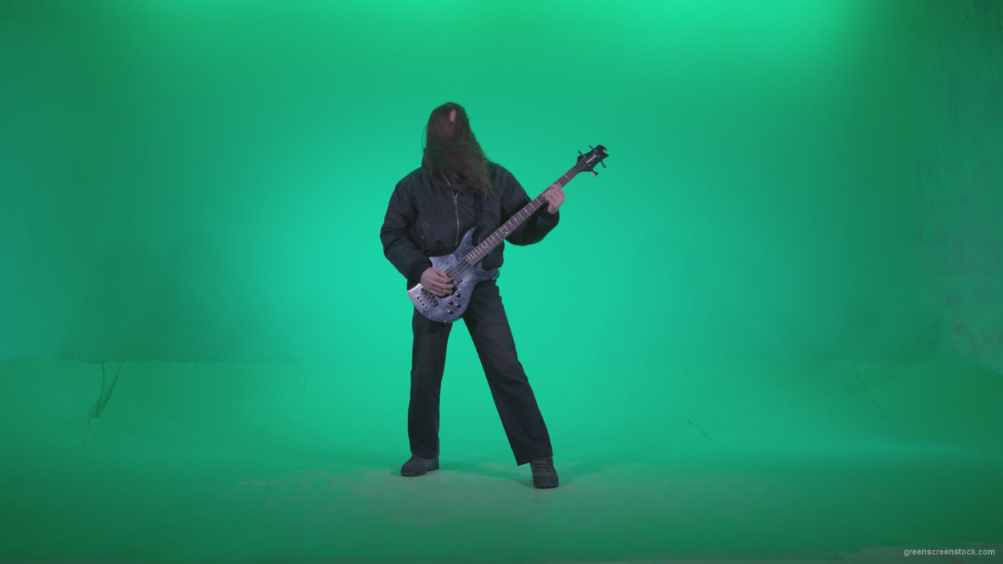 Death-Metal-Guitarist-zt3_009 Green Screen Stock