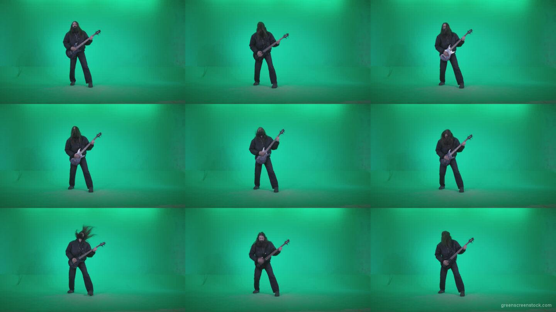 Death-Metal-Guitarist-zt4 Green Screen Stock