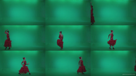 Flamenco-Red-Dress-rd11-Green-Screen-Video-Footage Green Screen Stock